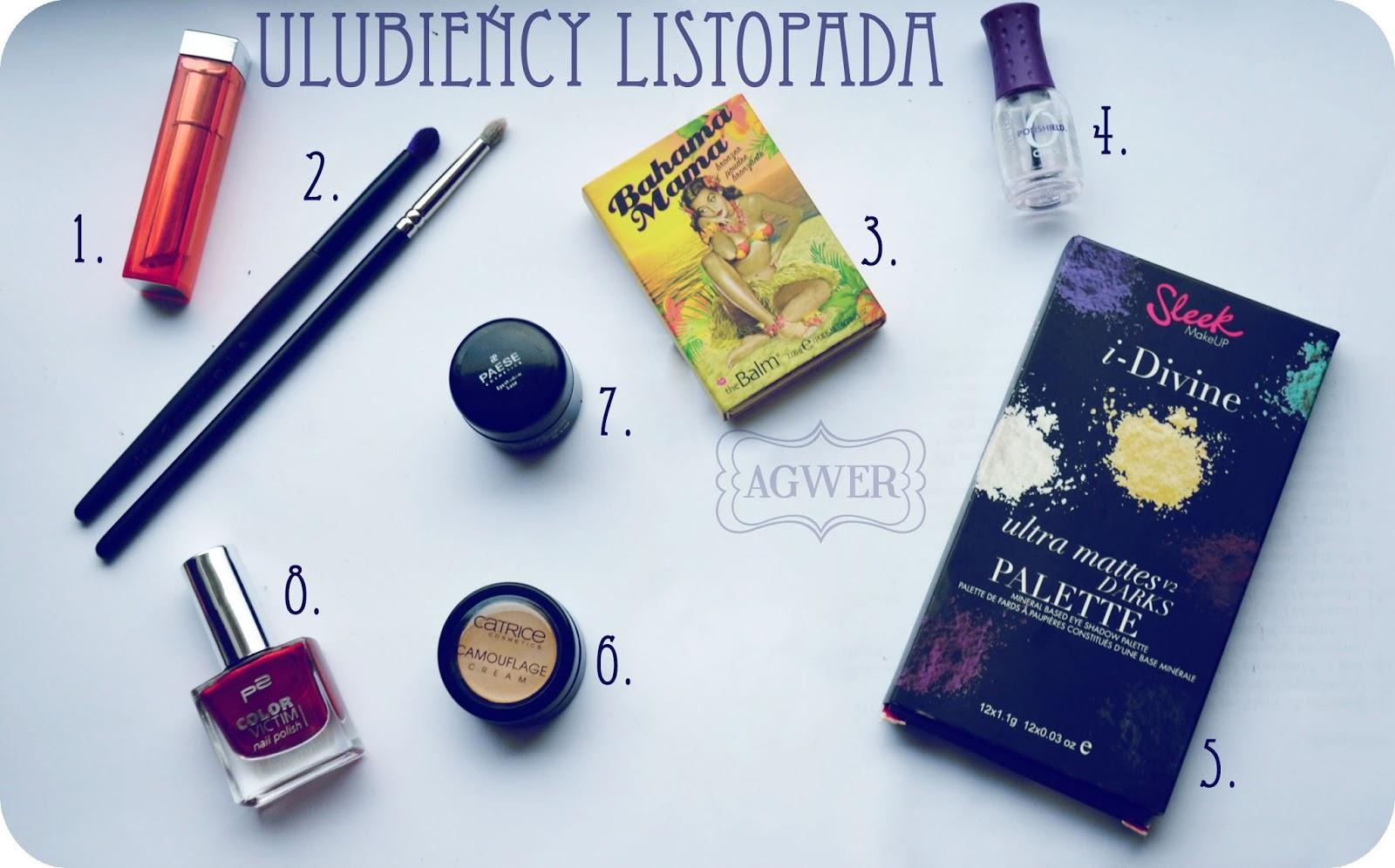 Ulubieńcy kosmetyczni | listopad 2013