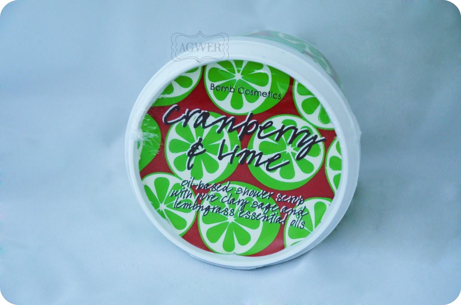 Bomb Cosmetics, Cranberry & lime peeling