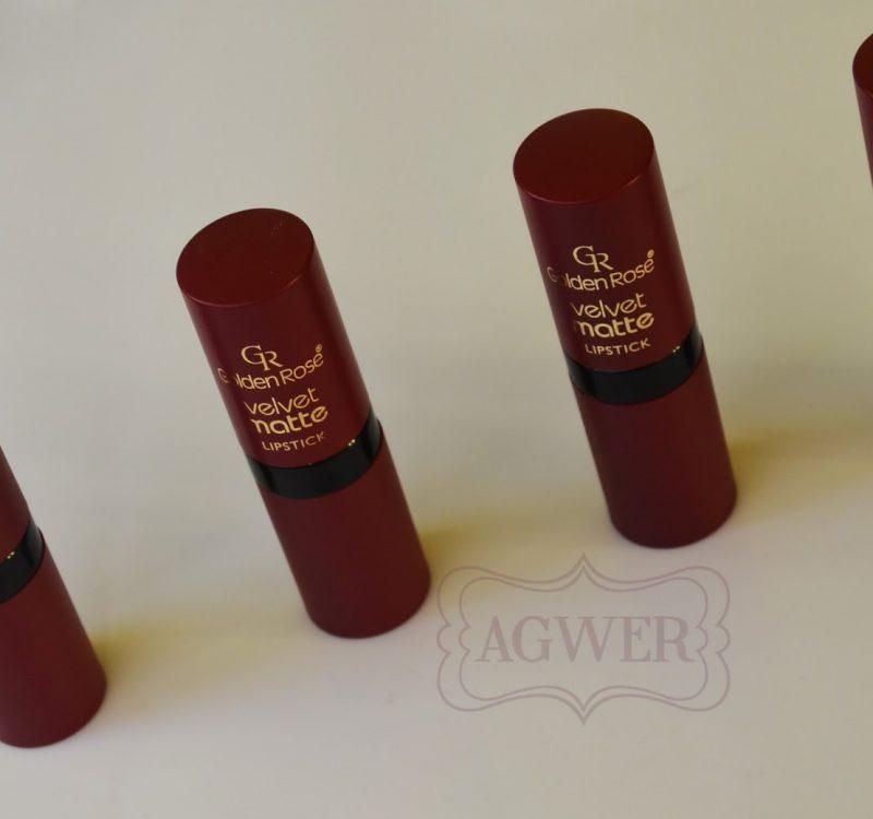 Golden Rose Velvet matte – swatche 4 pomadek