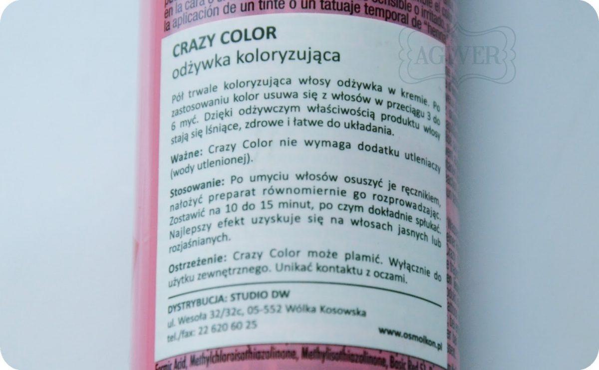 Odżywka koloryzująca crazy color