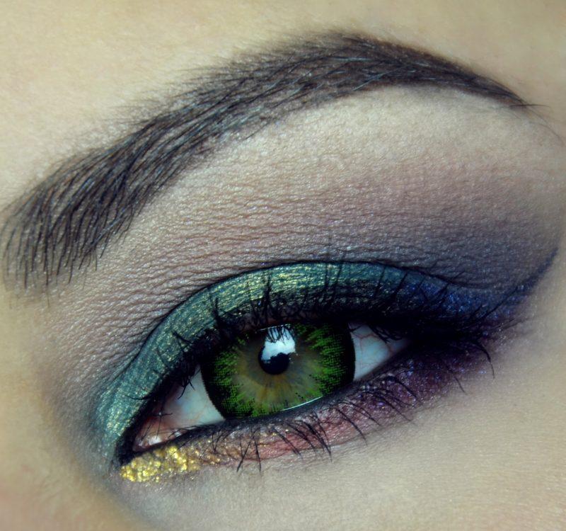 Makijaż Sylwestrowy: Dark rainbow