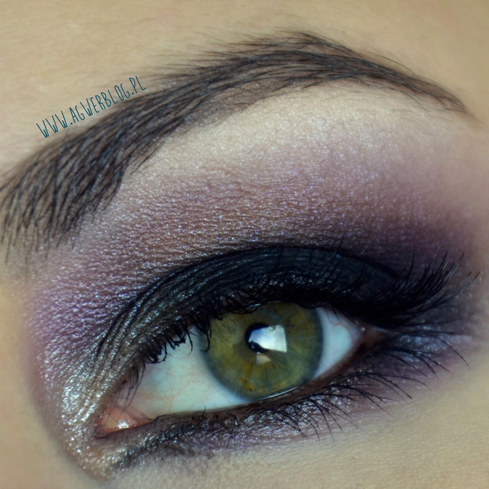 Makijaż sylwestrowy: czarny fiolet
