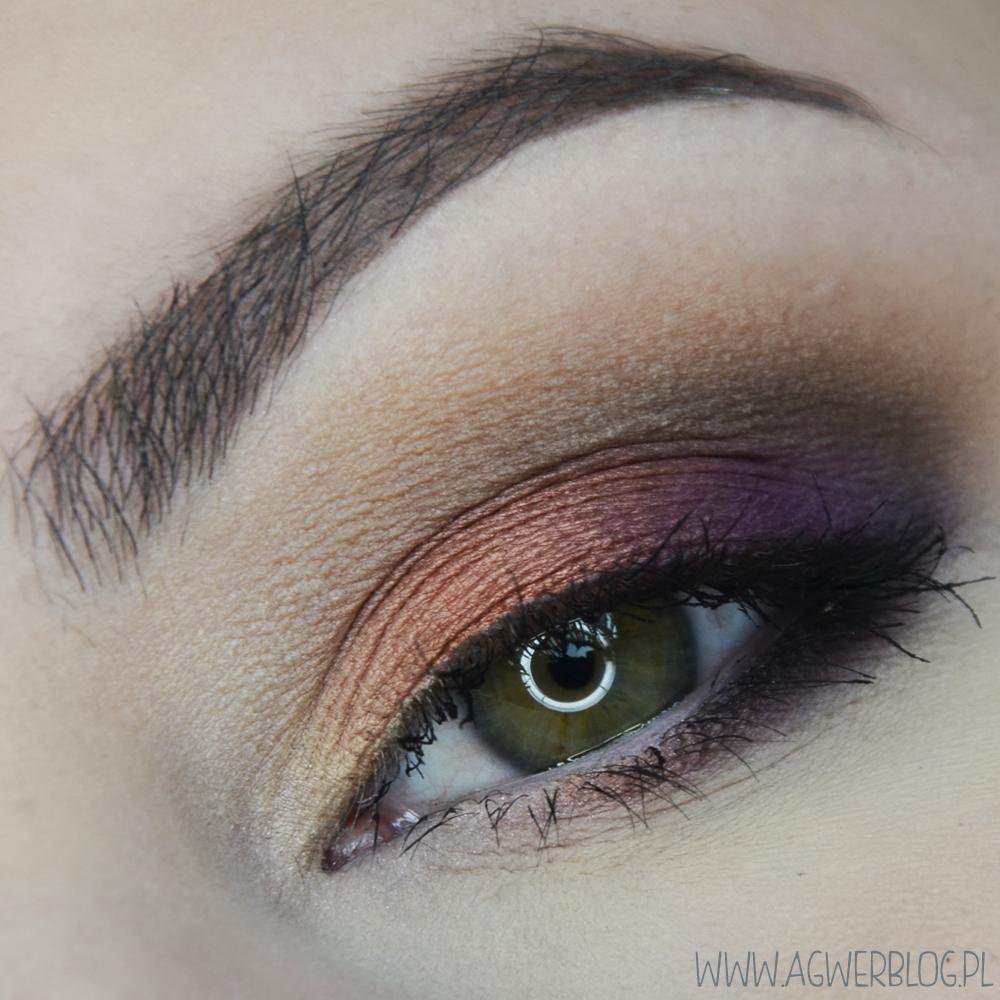 # Miedź z fioletem dla zielonych i piwnych oczu
