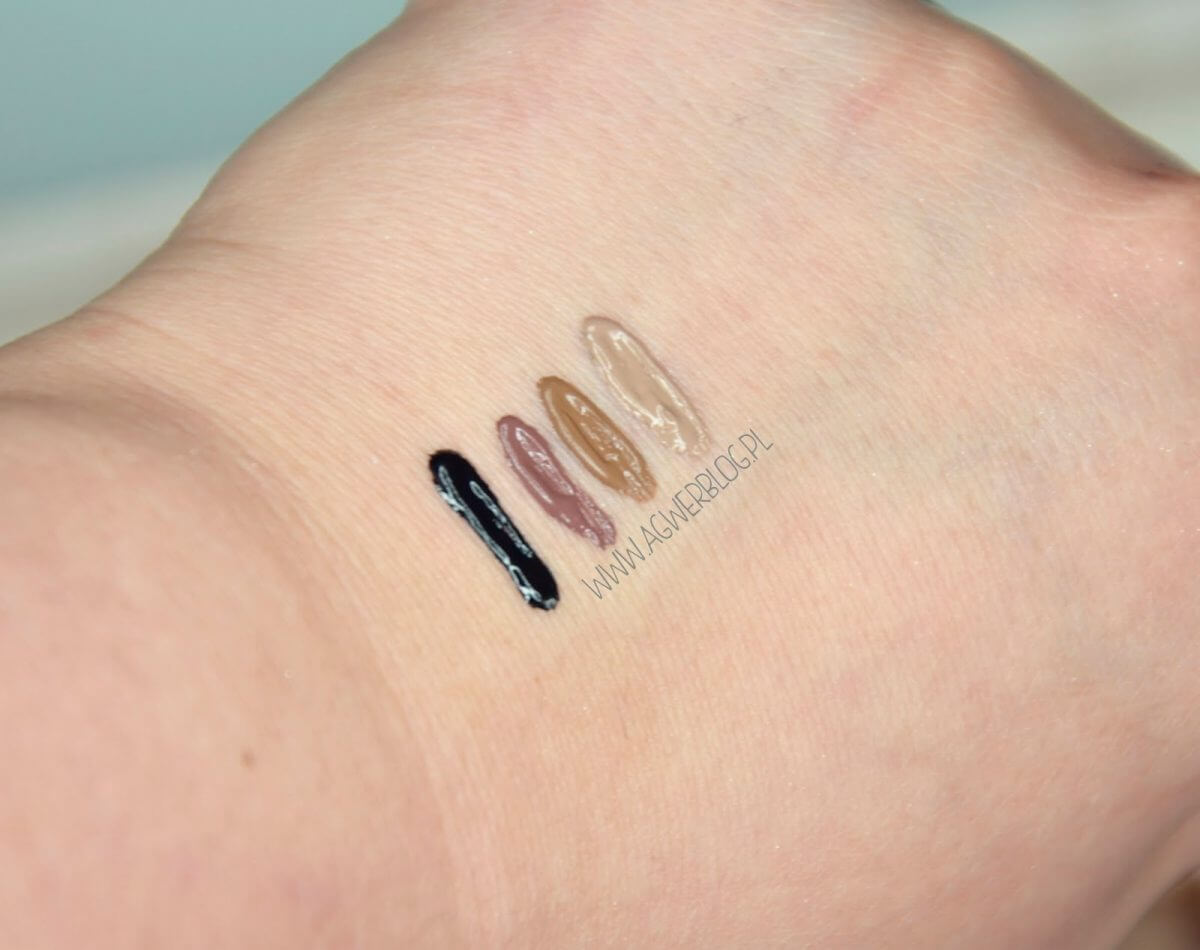 farbka do brwi makeup revolution - swatche
