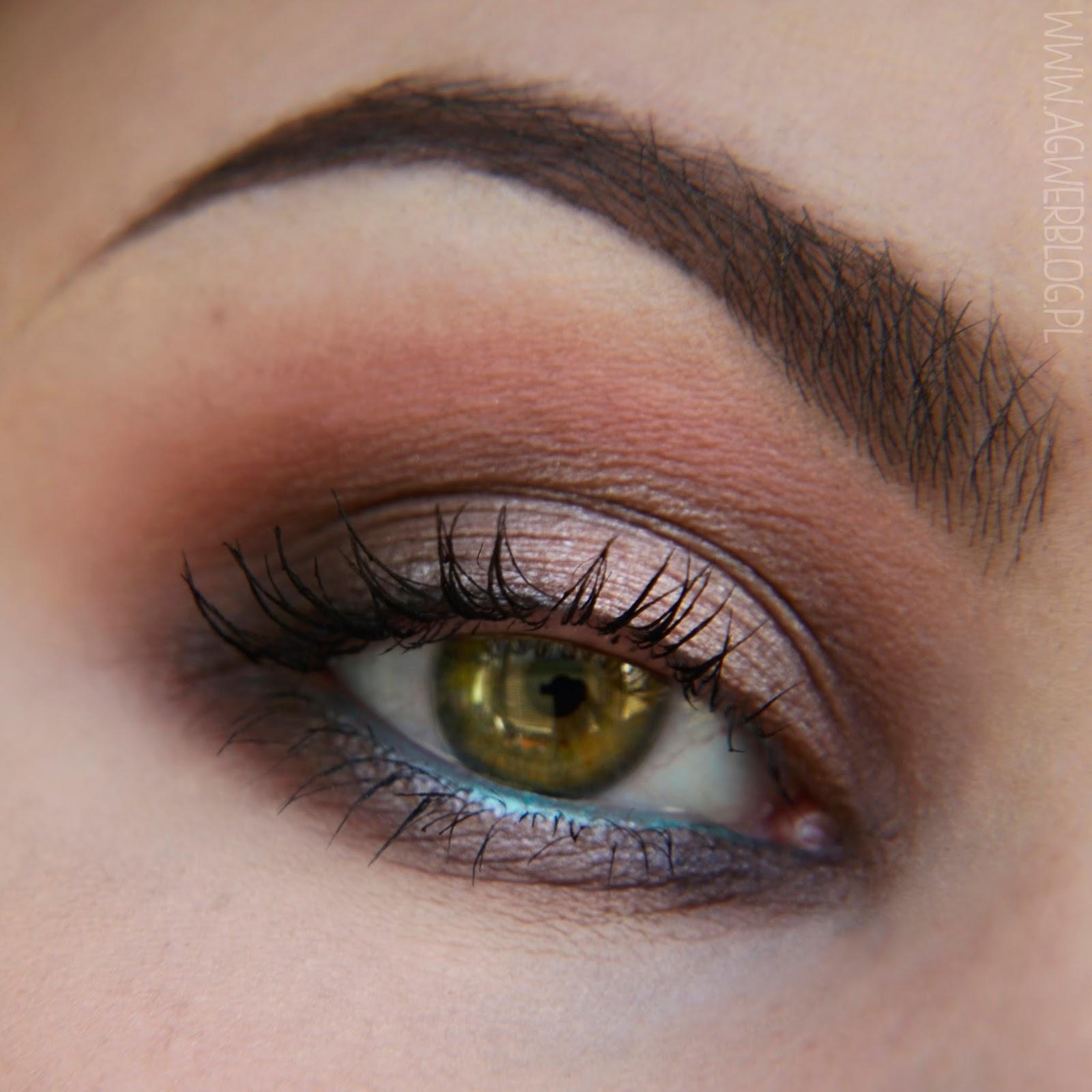 Soft color makeup look