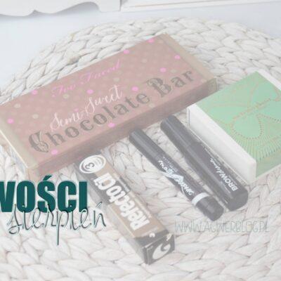 Kosmetyczne nowości   sierpień 2015