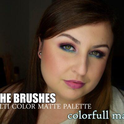 Morphe Brushes, 35c Multi color matte palette | colorfull makeup