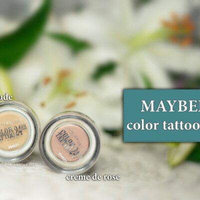 Matowe cienie color tattoo Maybelline | creme de rose, creme de nude