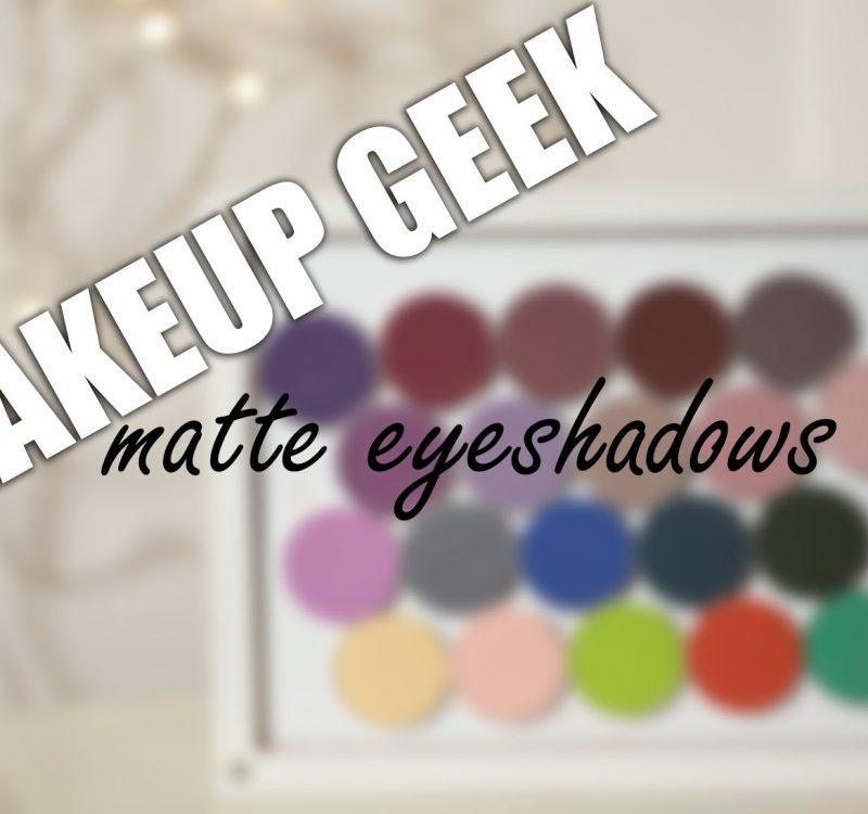 Makeup Geek matte eyeshadows