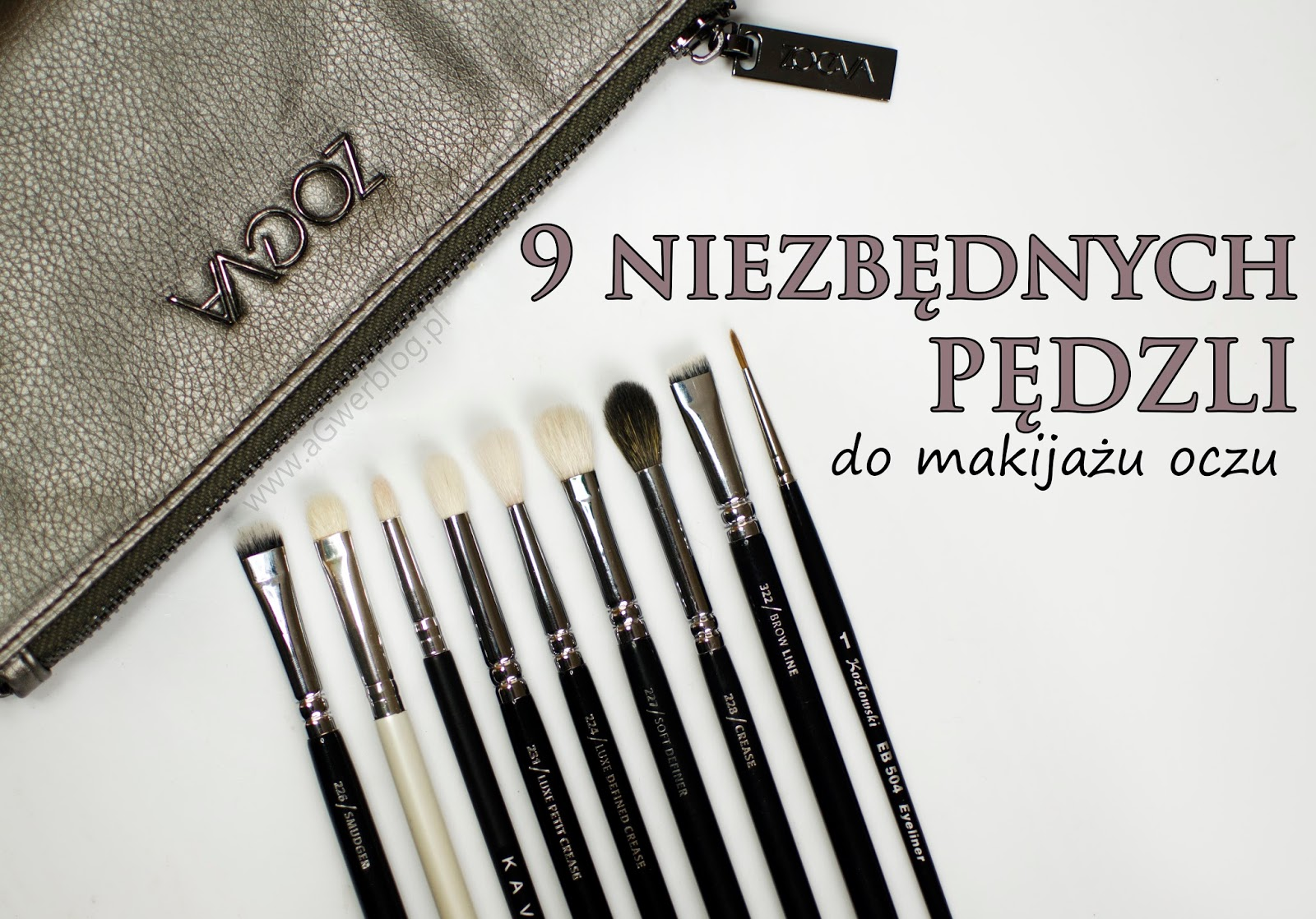 9 niezbędnych pędzli do makijażu oczu