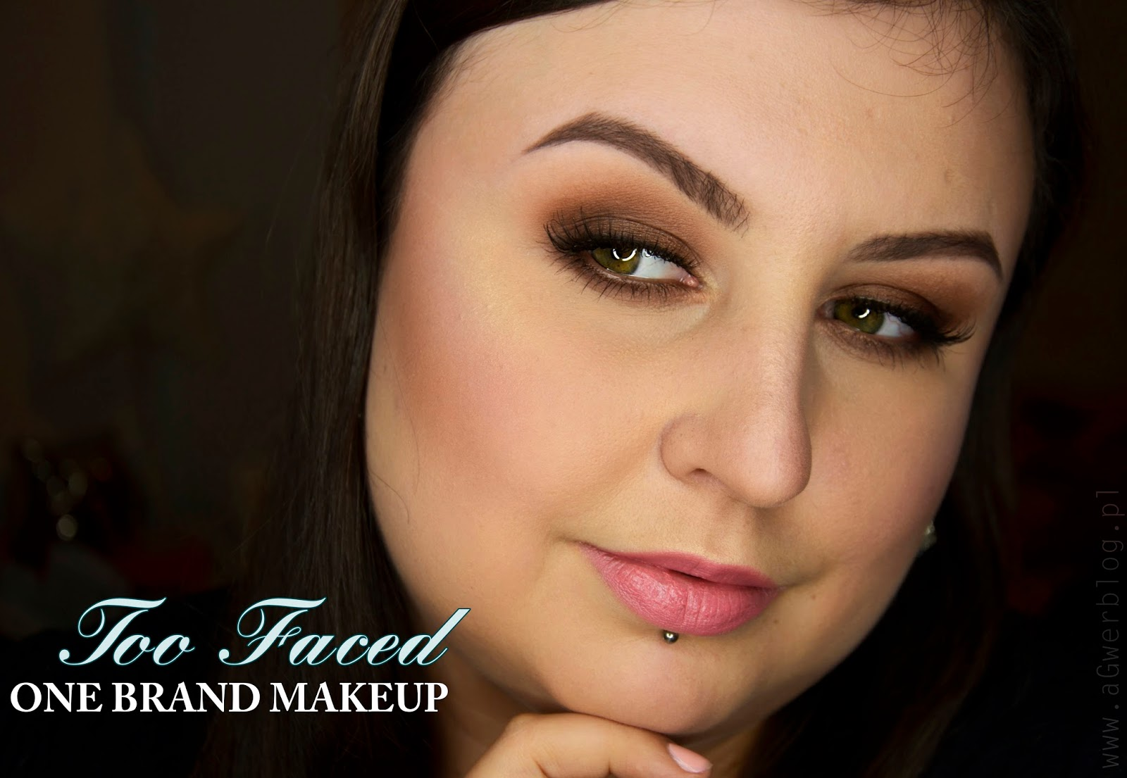 One brand makeup: Too faced | warm smoky