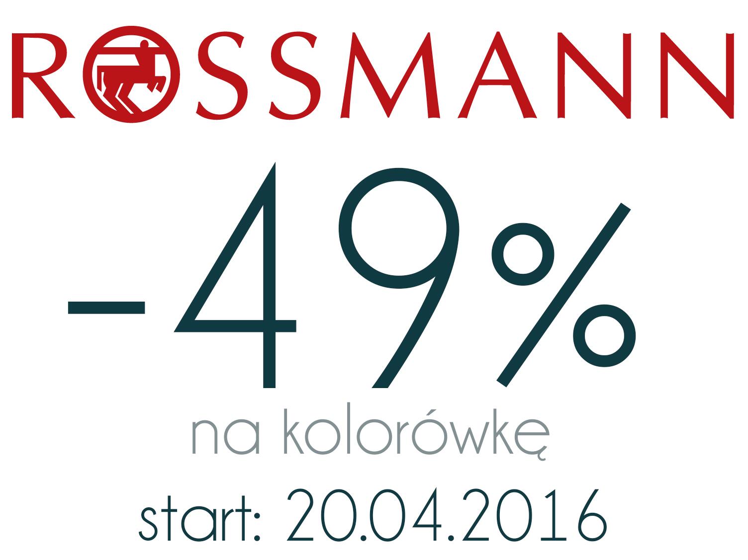 – 49% na kolorówkę w Rossmannie | 20.04.2016