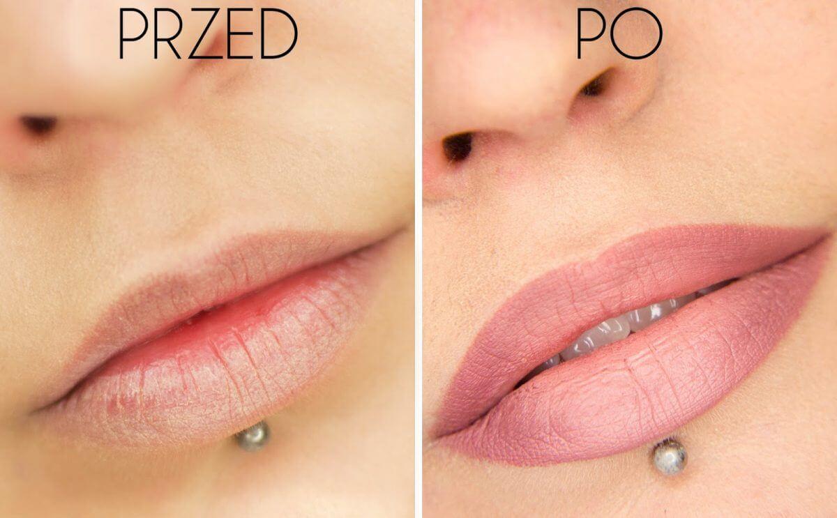makijaż powiększający usta blog