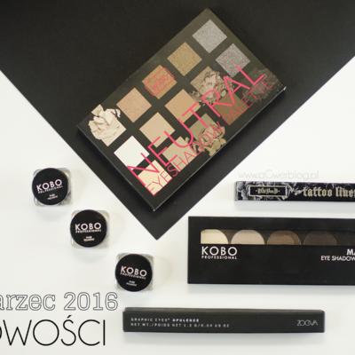Nowości kosmetyczne | Makeup Geek, KOBO, Zoeva