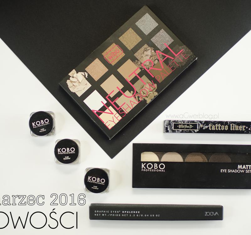 Nowości kosmetyczne   Makeup Geek, KOBO, Zoeva