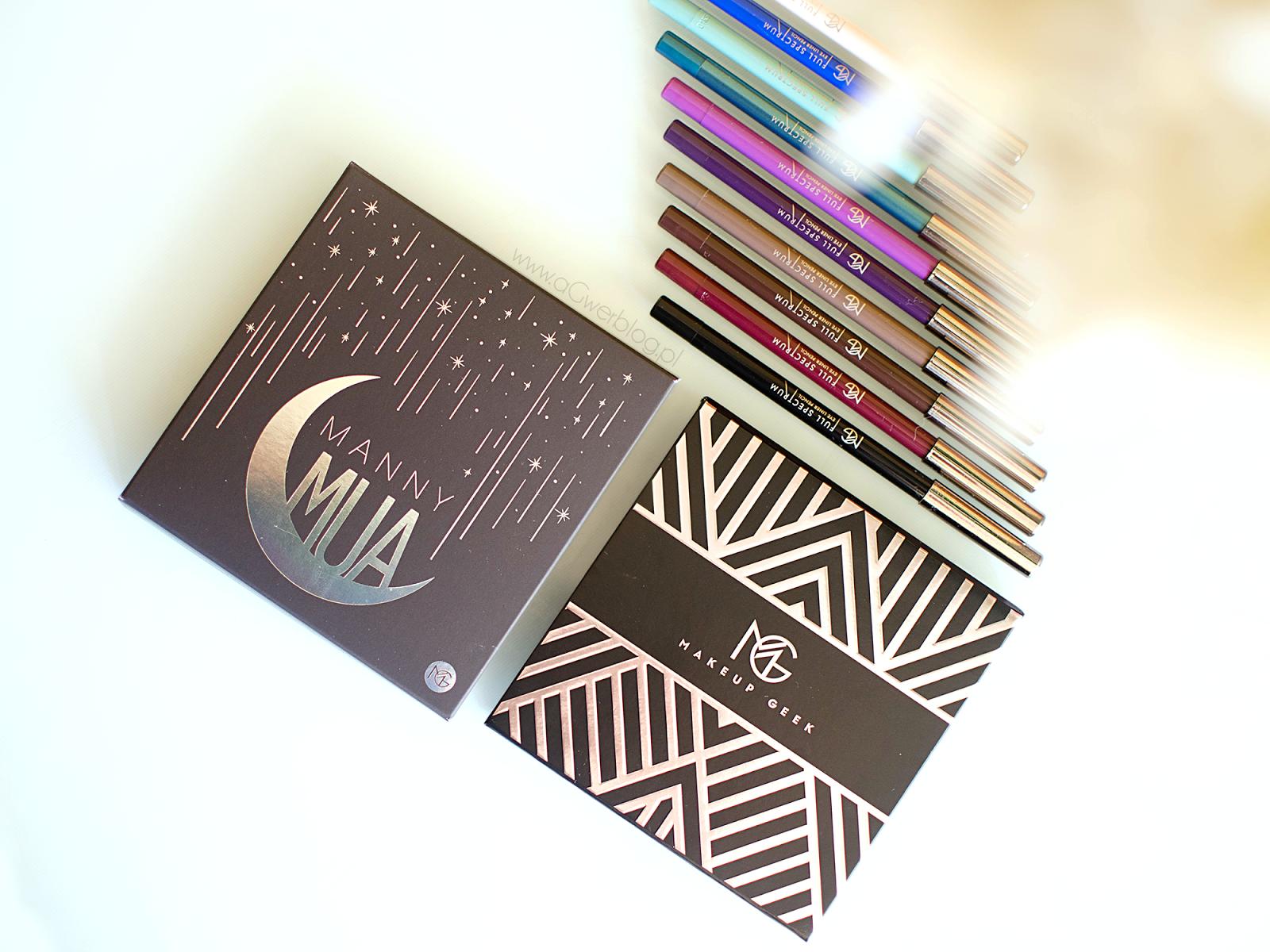 Nowości Makeup Geek | MannyMUA Palette, Full Spectrum eye liner pencil