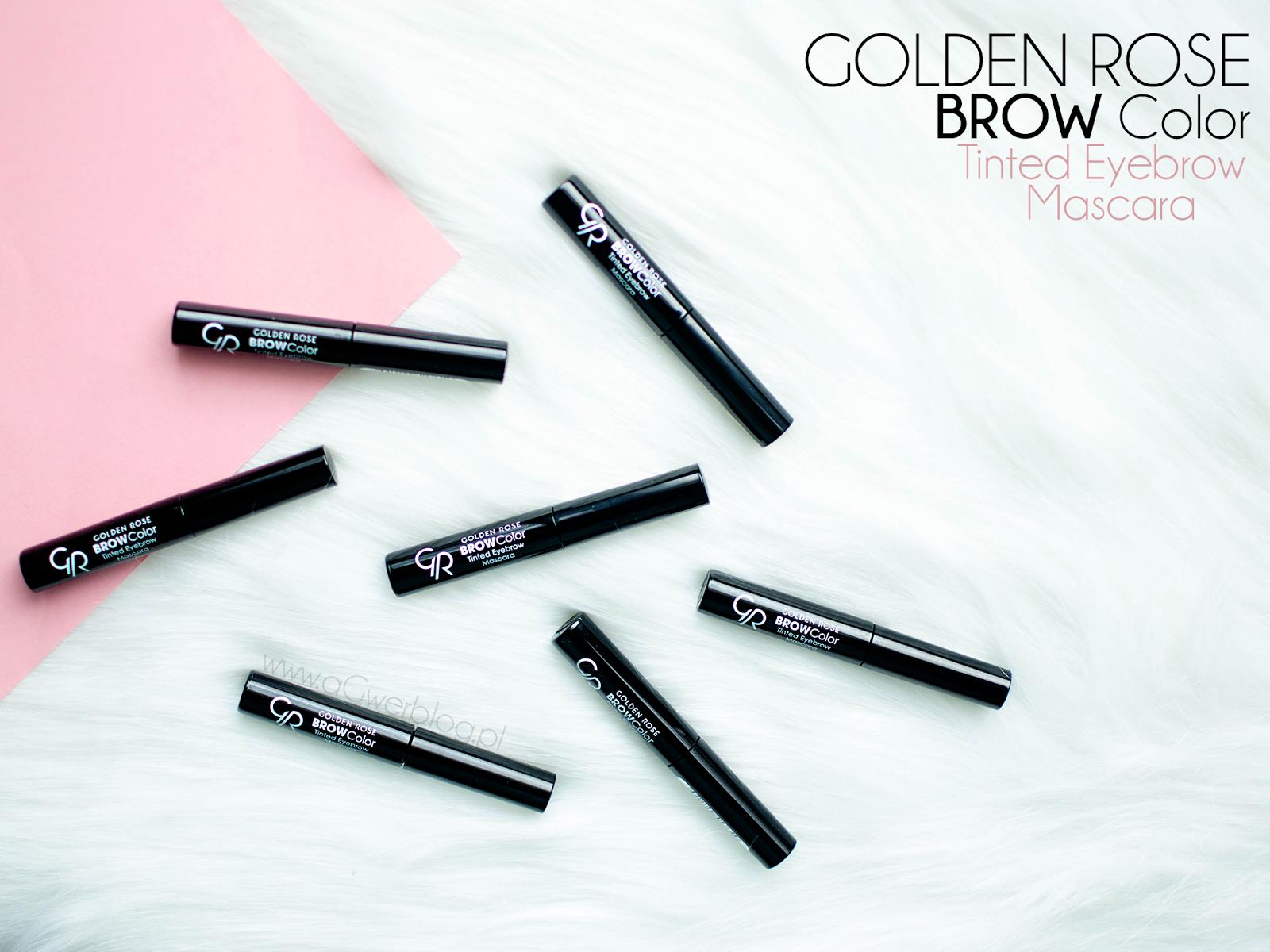 Makijaż brwi z Golden Rose | BROW Color Tinted Eyebrow Mascara