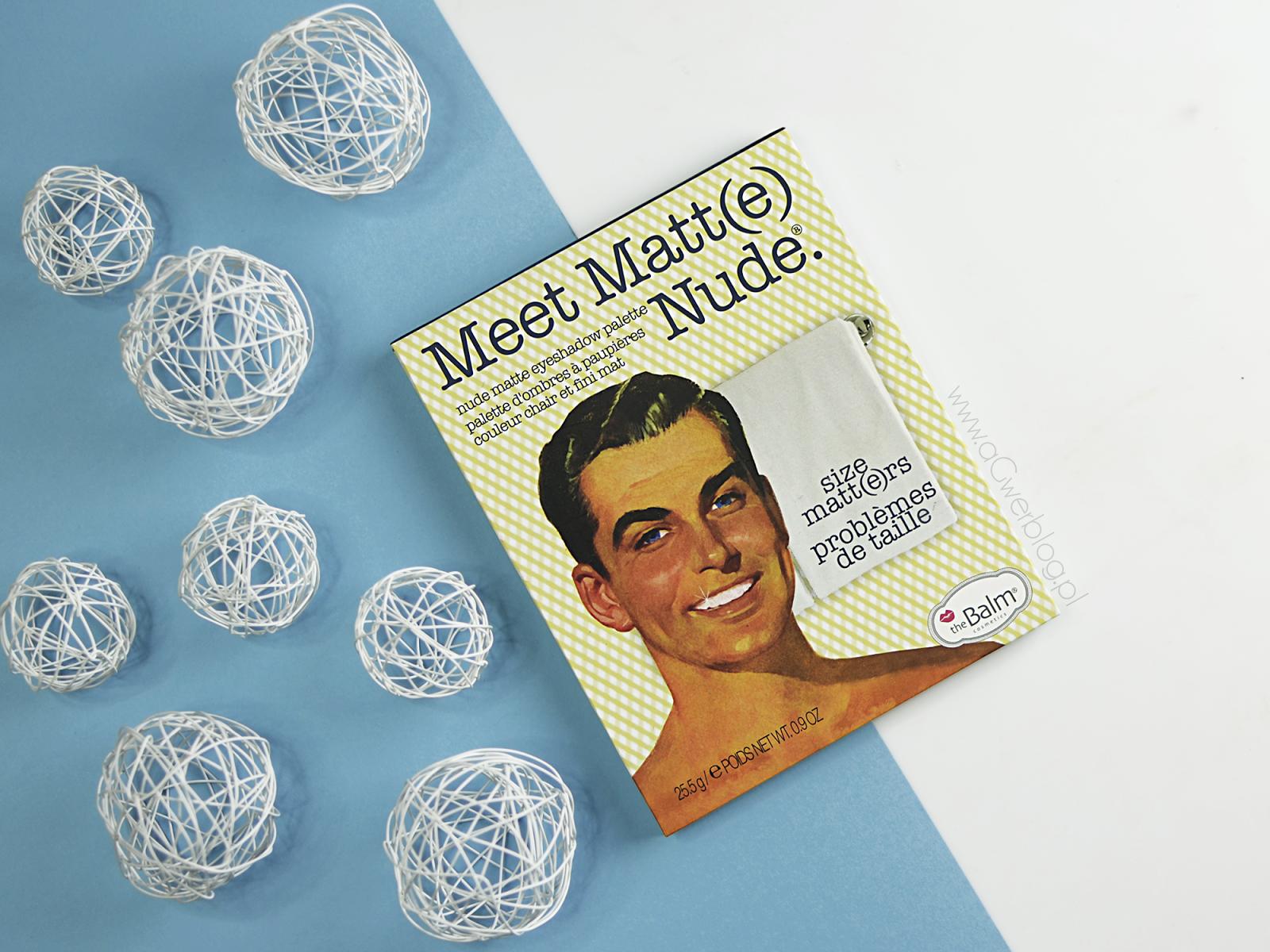 theBalm Meet Matt(e) Nude | idealna matowa paleta