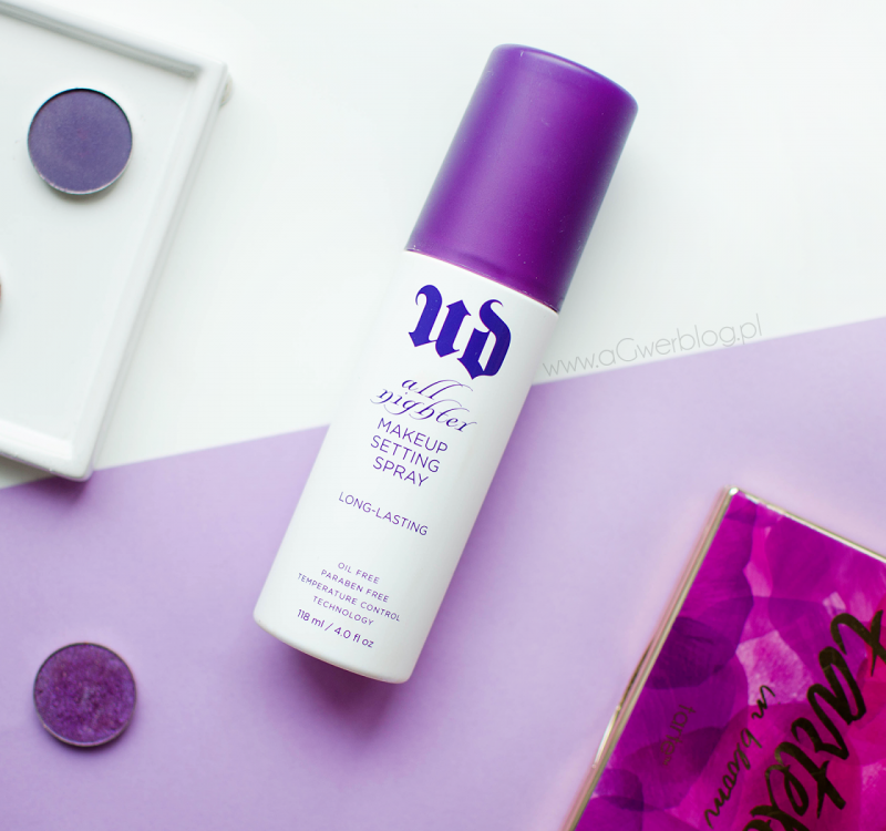 Urban Decay, All Nighter Makeup Setting Spray | 3 sposoby na mgiełkę utrwalającą