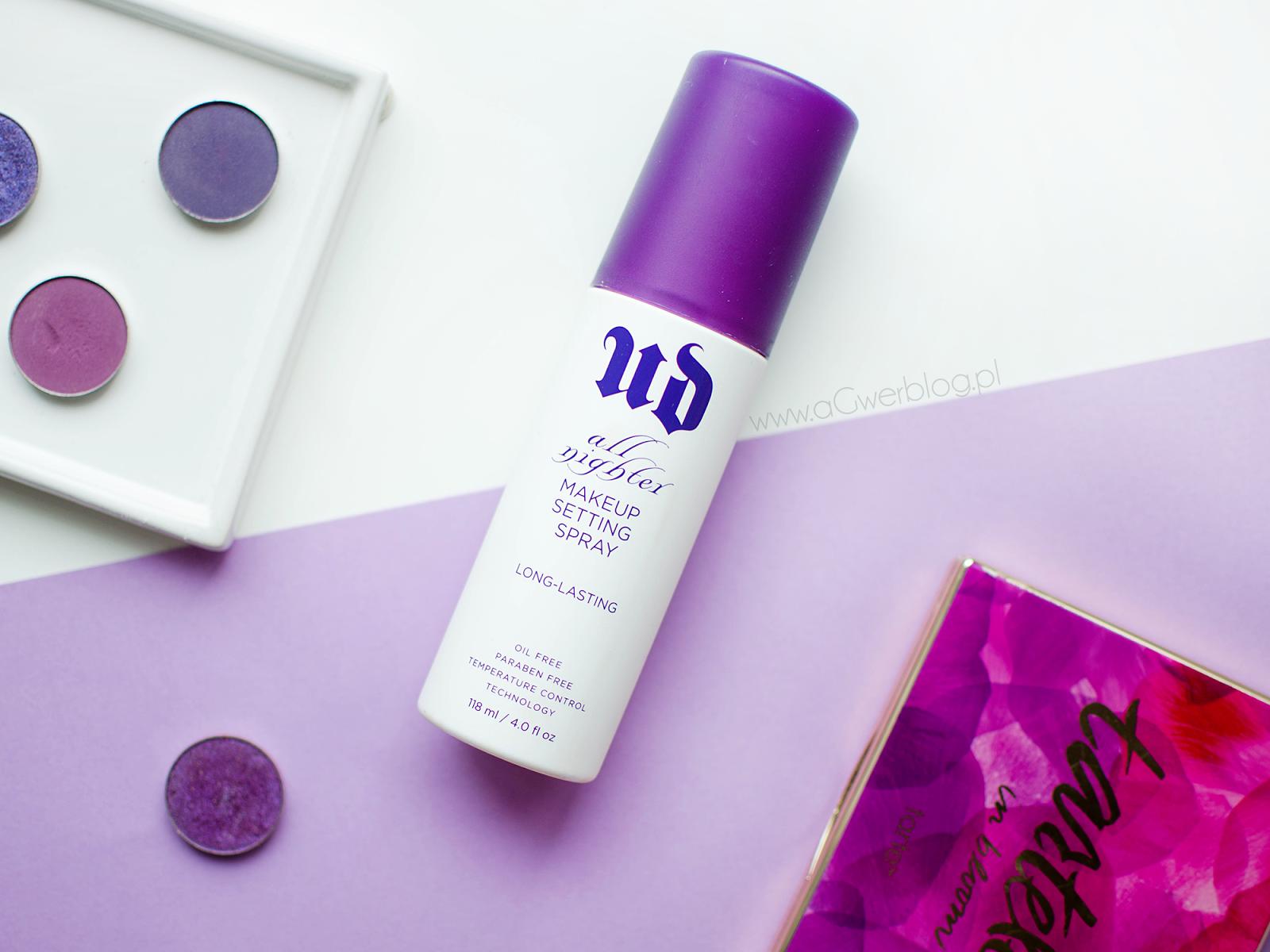 Urban Decay, All Nighter Makeup Setting Spray | 3 sposoby na mgiełkę utrwalającą