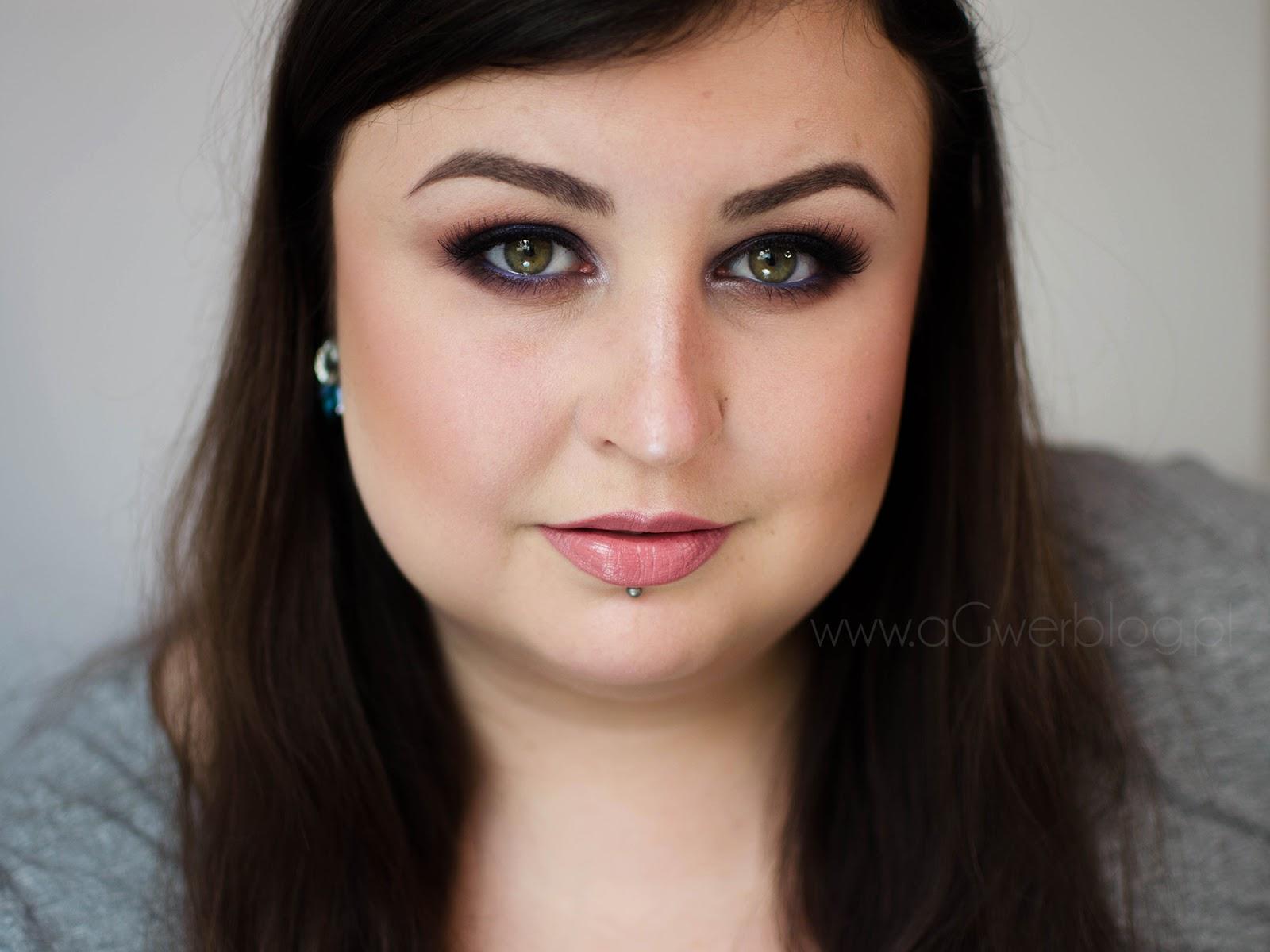 Brązowo-niebieskie smokey | Makeup Geek Americano, Chit Chat