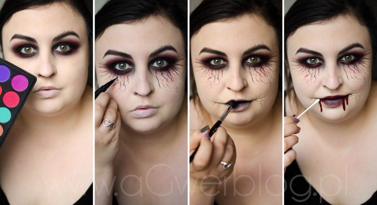 jak zrobić makijaż na halloween krok po kroku