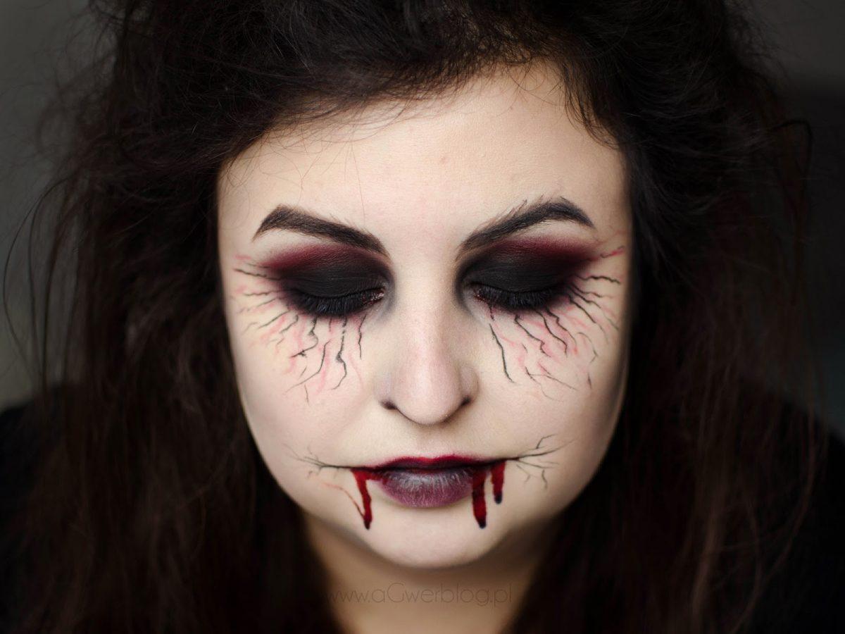 makijaż na halloween oczy