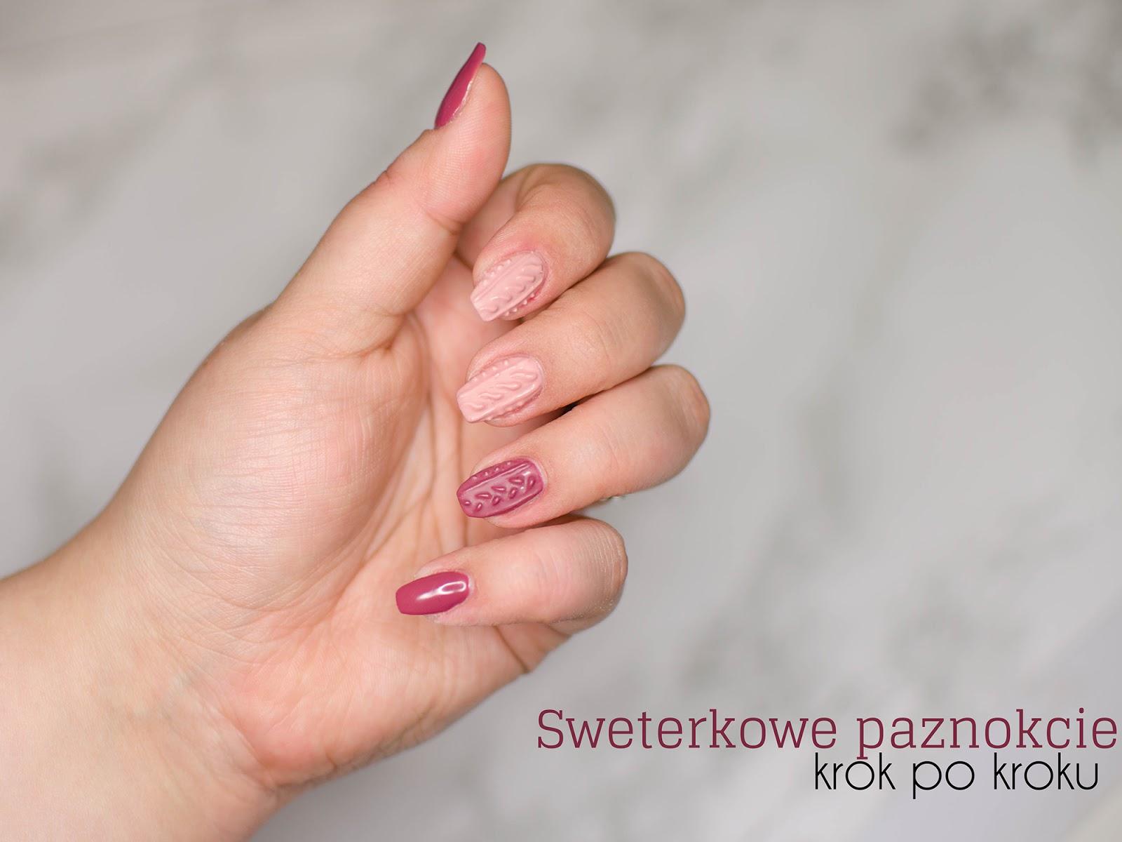 Sweterkowe paznokcie | szybki i prosty sposób na jesienne mani
