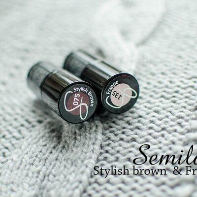 Semilac Stylish brown | manicure na karnawał