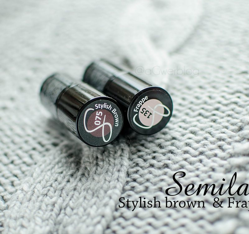 Semilac Stylish brown | manicure na karnawał