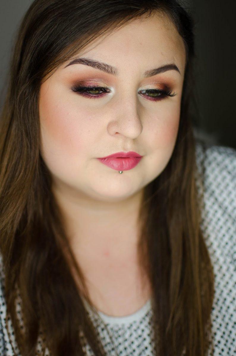 neutralny makijaż wieczorowy