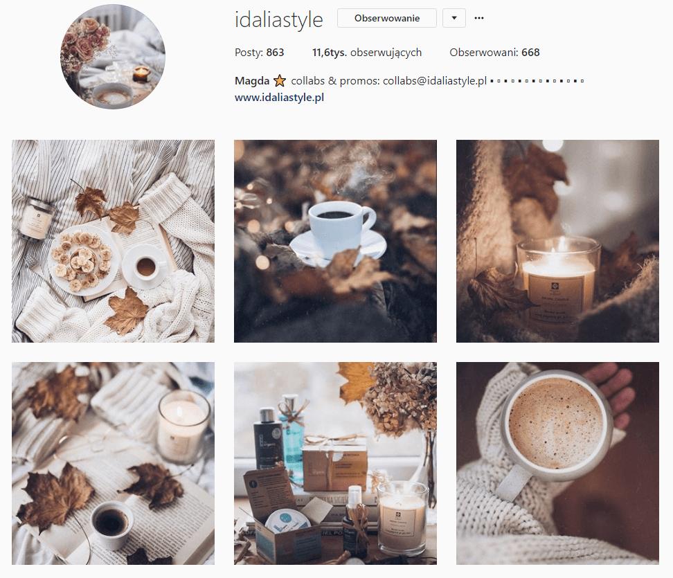 inspirujące konta na instagramie idalia