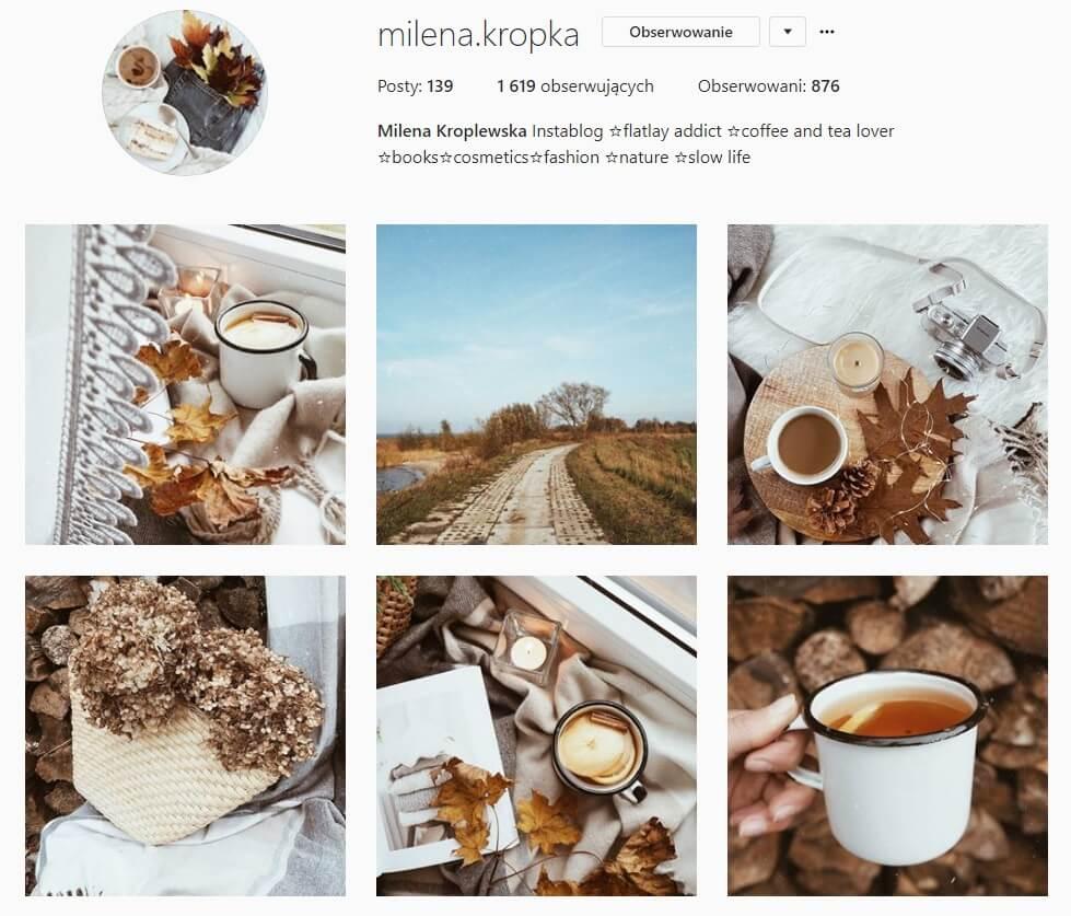 inspirujące konta na instagramie milena kropka