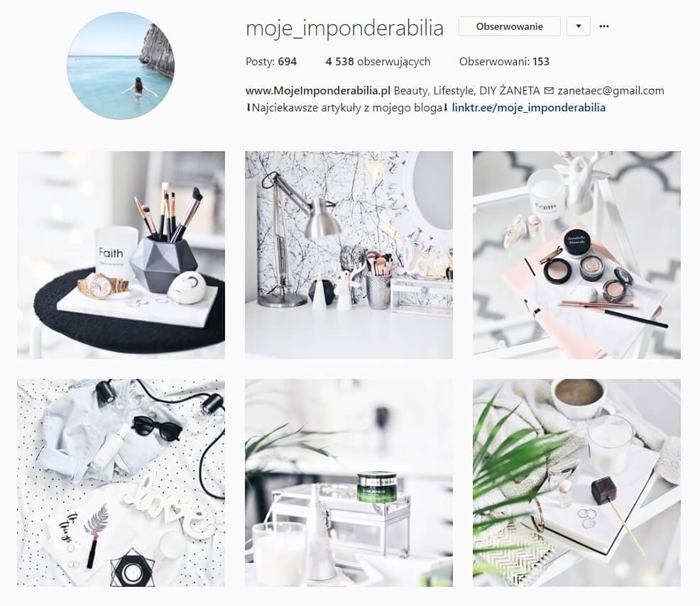 inspirujące konta na instagramie moje imponderabilia