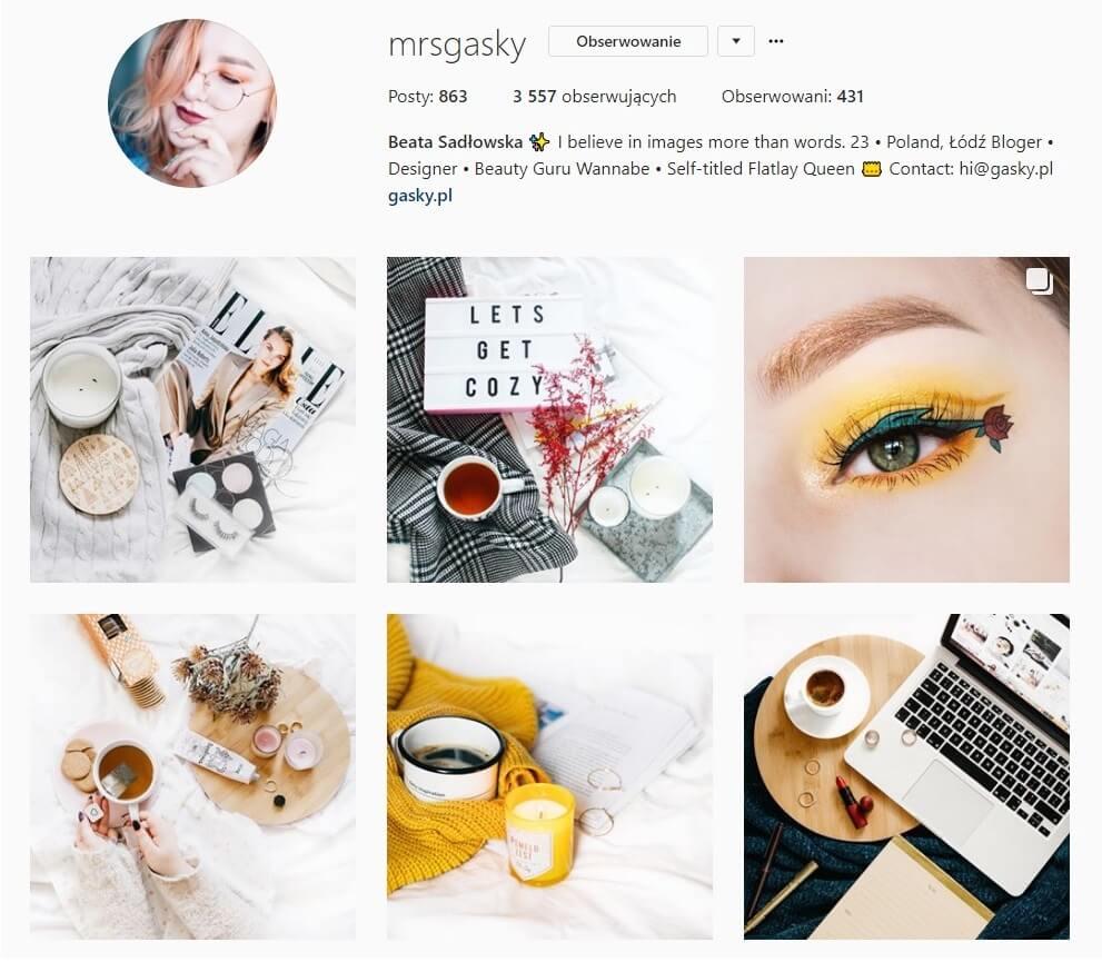 inspirujące konta na instagramie gasky