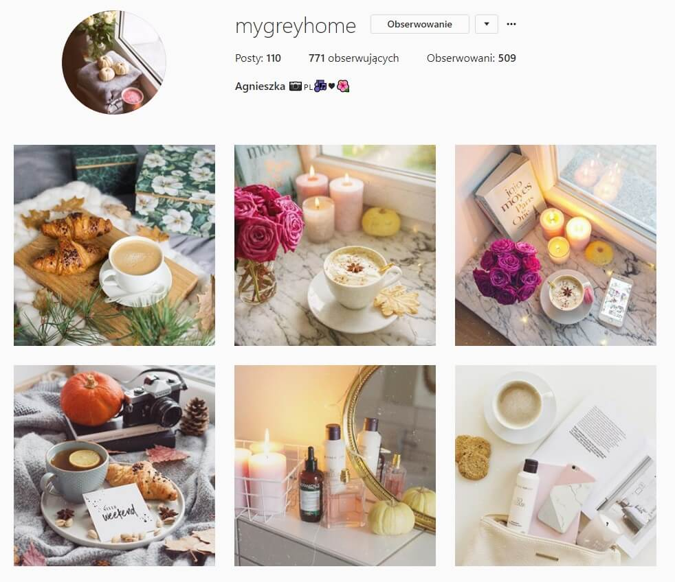 inspirujące konta na instagramie my grey house
