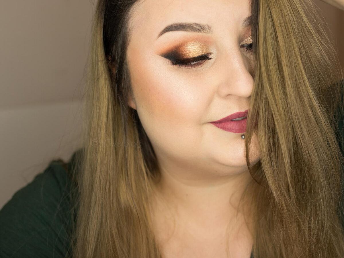 makijaż wieczorowy brązowy