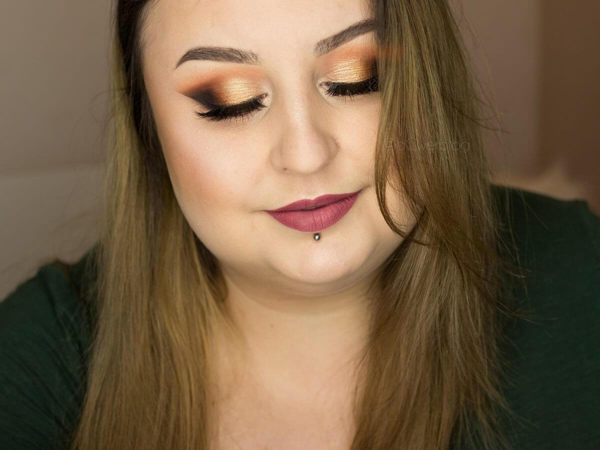 brązowy makijaż wieczorowy