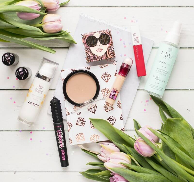 Ulubieńcy kosmetyczni ostatnich tygodni | Maybelline, Benefit, MIYA