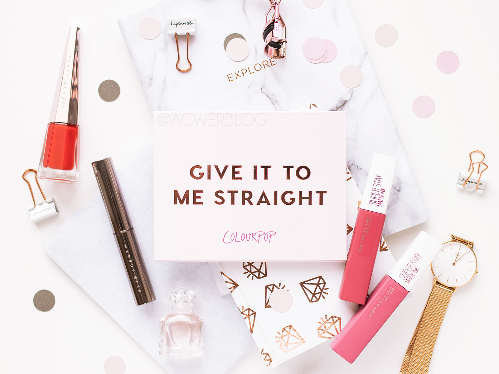 ColourPop, Give it to me straight – recenzja, swatche, makijaż