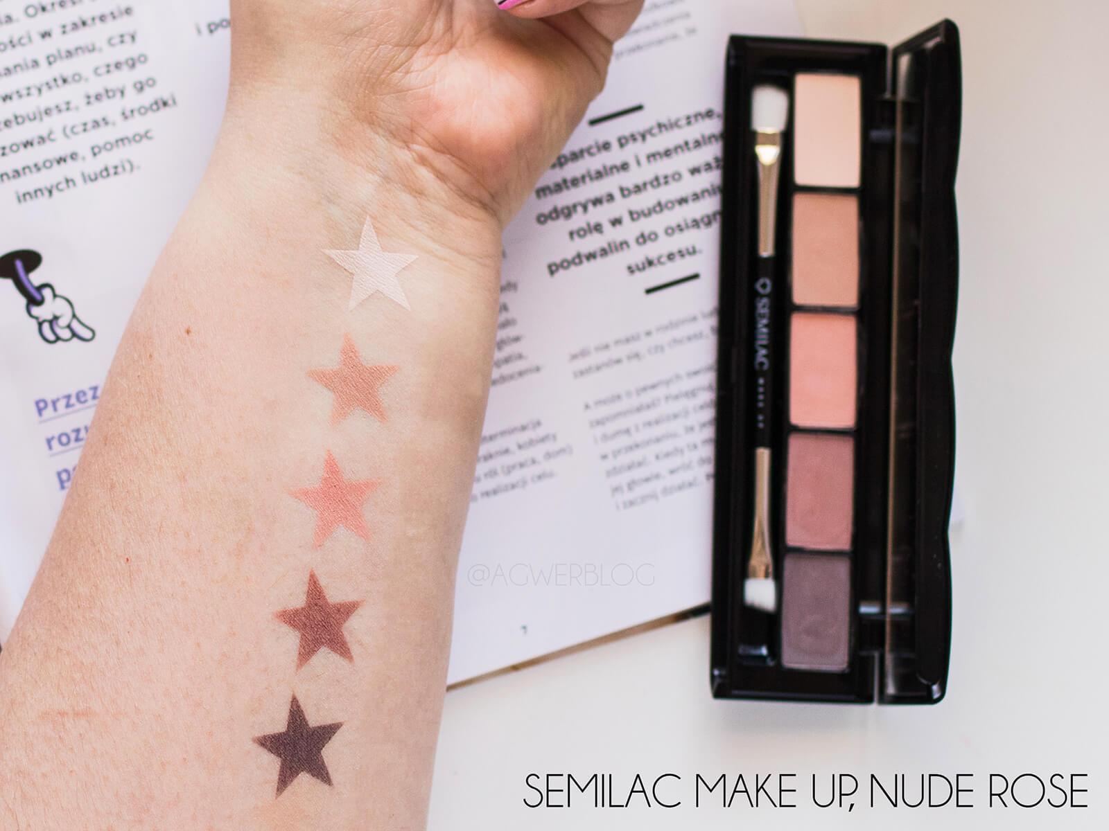 makijaż semilac nude rose swatches