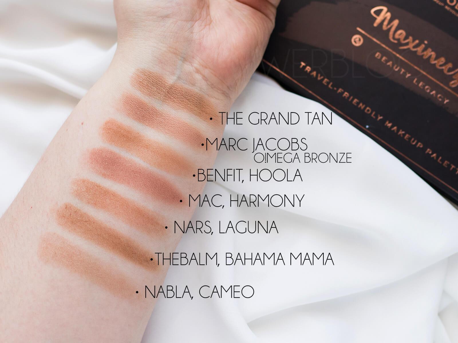 Beauty Legacy the grand tan bronzer porównanie