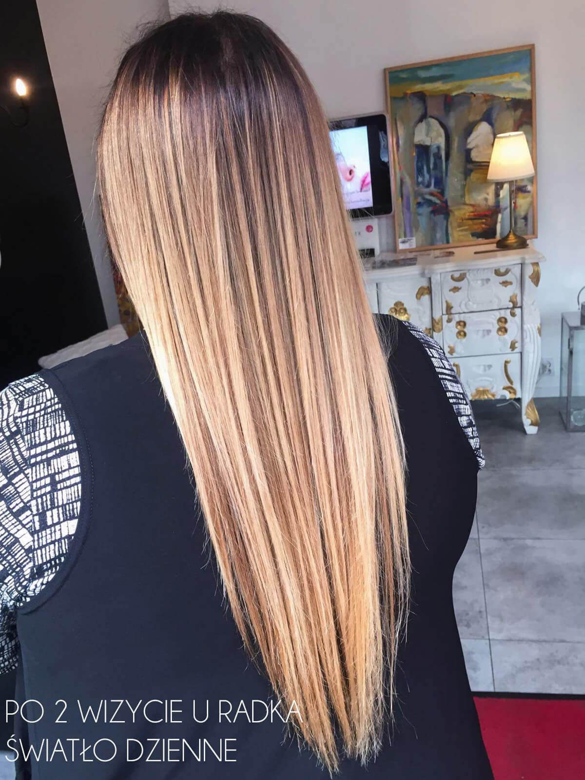 metamorfoza włosów ombre blog