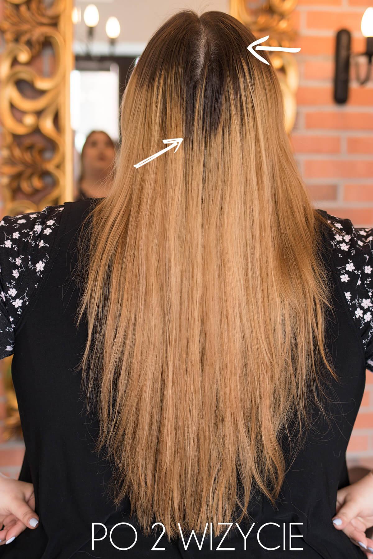 metamorfoza moich włosów ombre