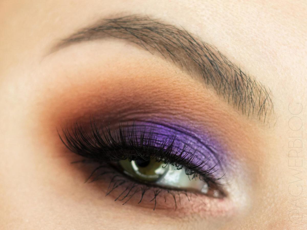 makijaż paletą Norvina