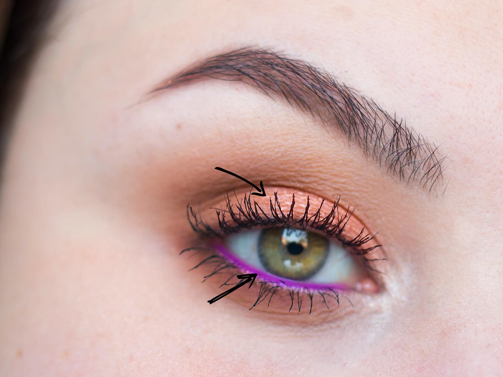 makijaż dzienny z kolorem