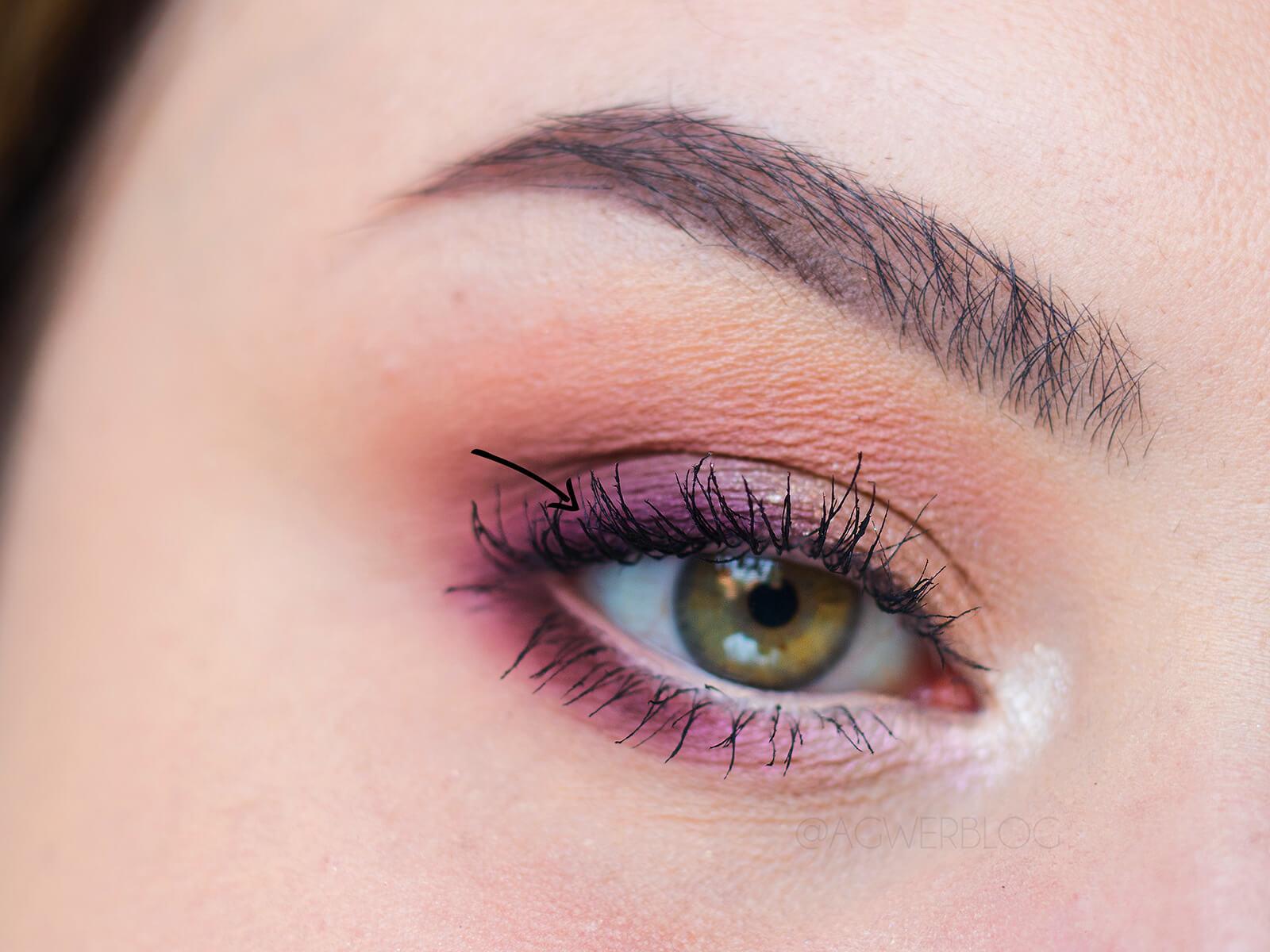 makijaż dzienny z kolorem fioletowym