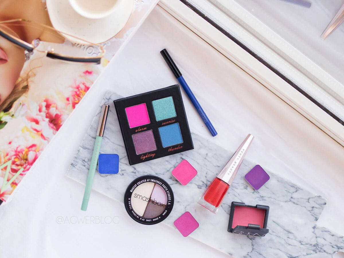 kolorowy makijaż dzienny