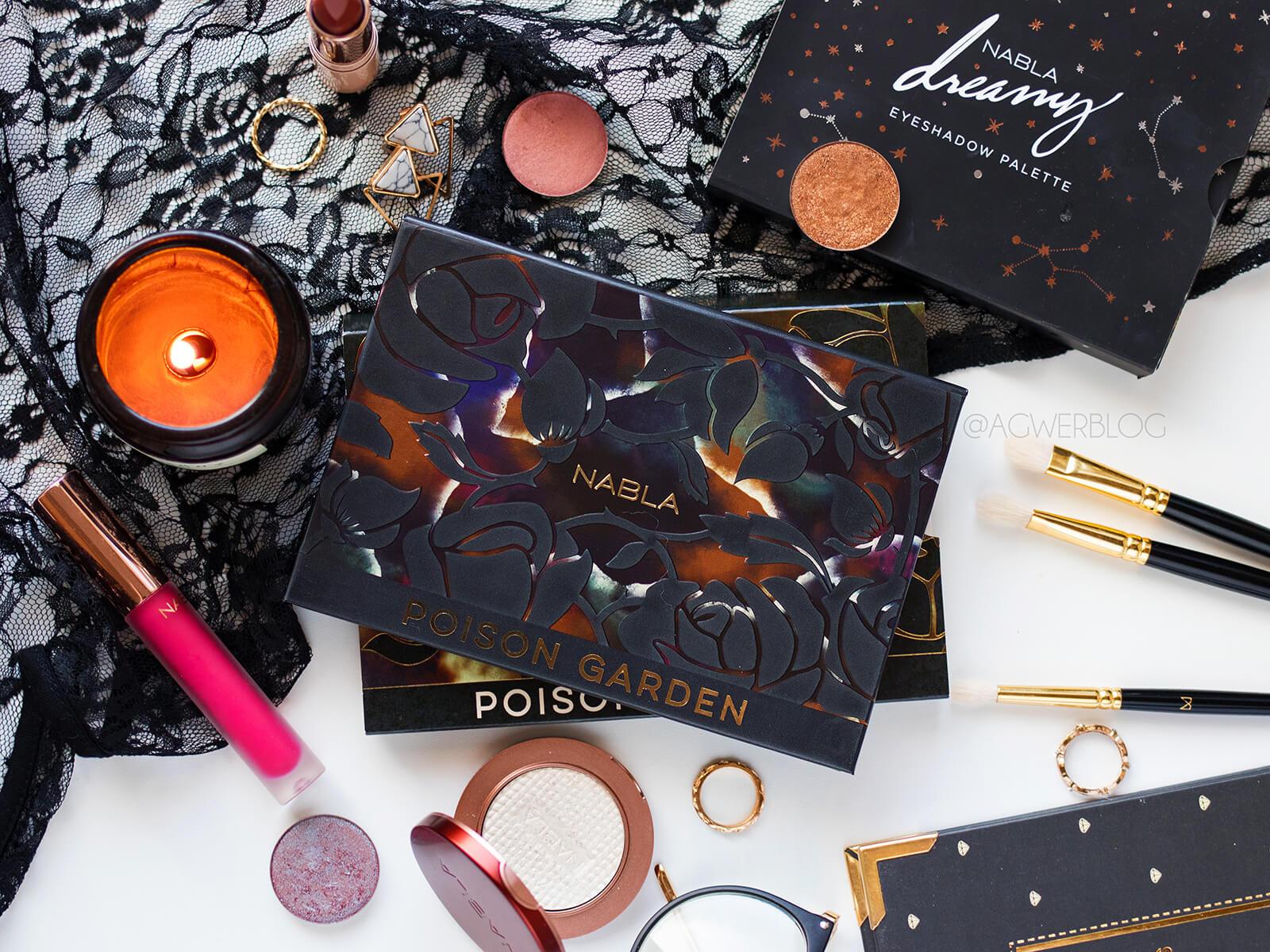 Nabla Cosmetics, Poison Garden Palette + porównanie cieni