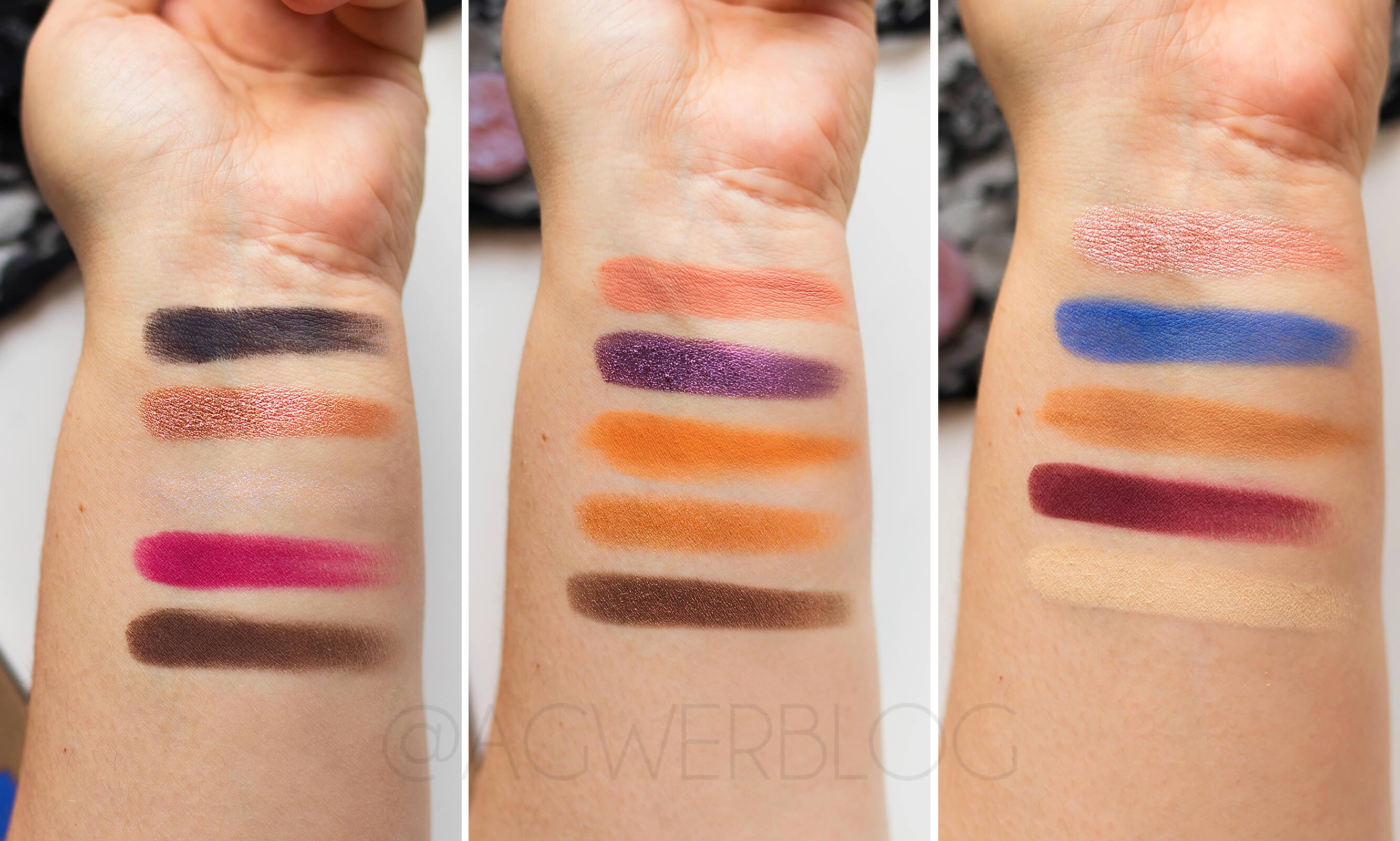 Nabla Cosmetics, Poison Garden Palette swatches